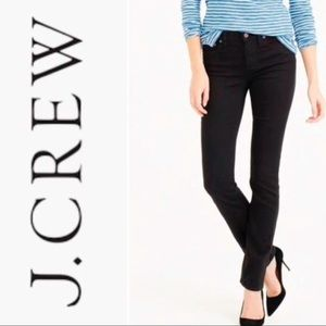 J. Crew Black Matchstick Denim Jeans Mid Rise 30